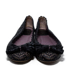 Christian Dior Black Lilac Cut Leather Flats 4