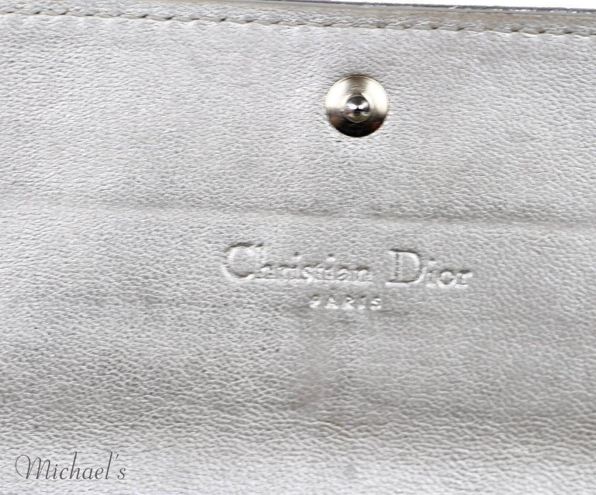 Christian Dior  Gold Leather Wallet