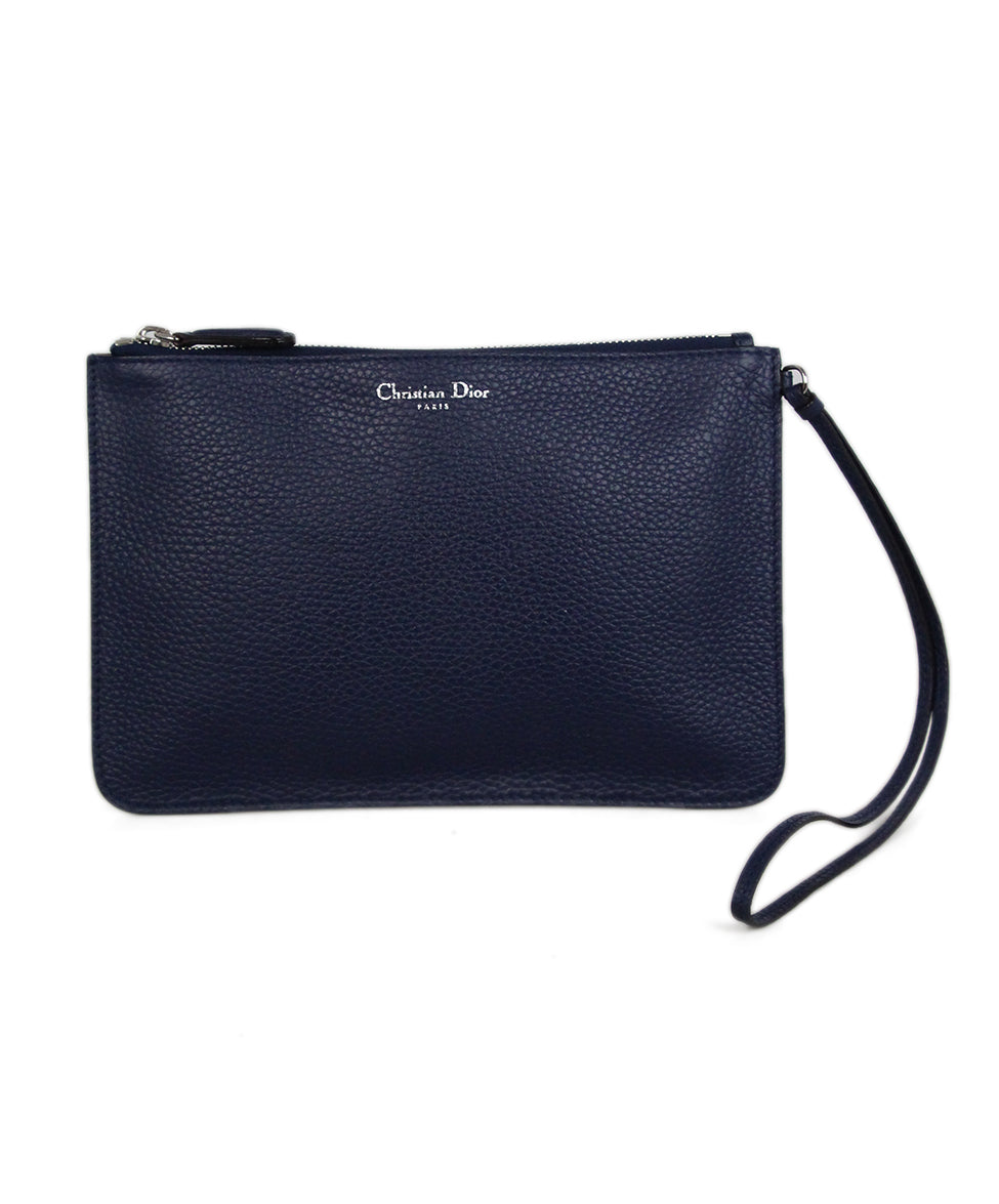 Christian Dior Navy Leather Wallet 1