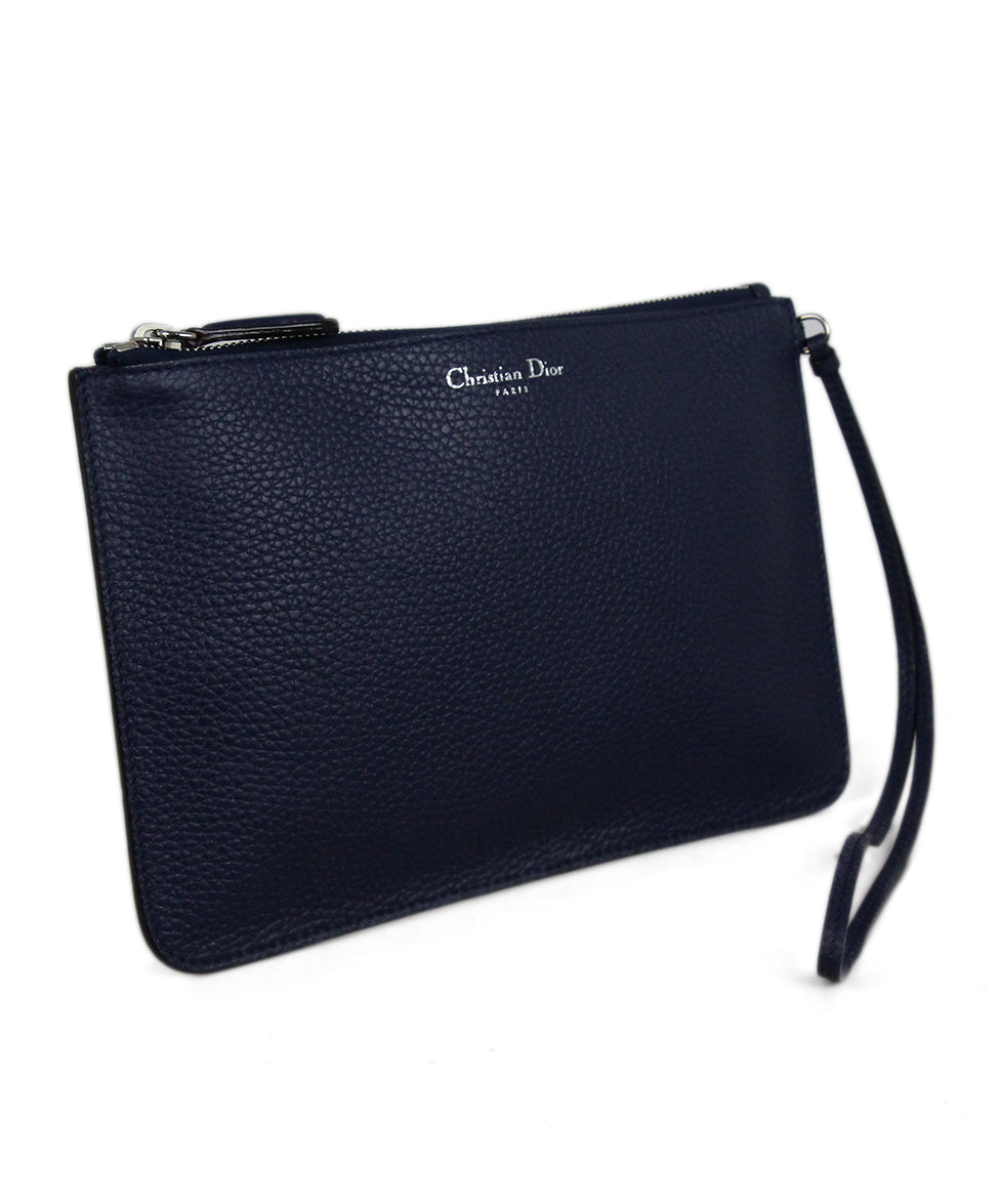 Christian Dior Navy Leather Wallet 2