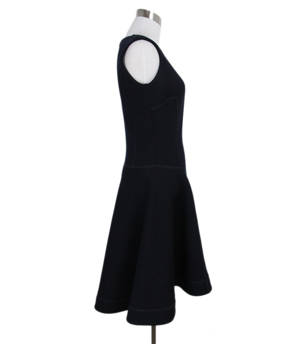 Christian Dior Navy Wool Jewel Detail Dress 2
