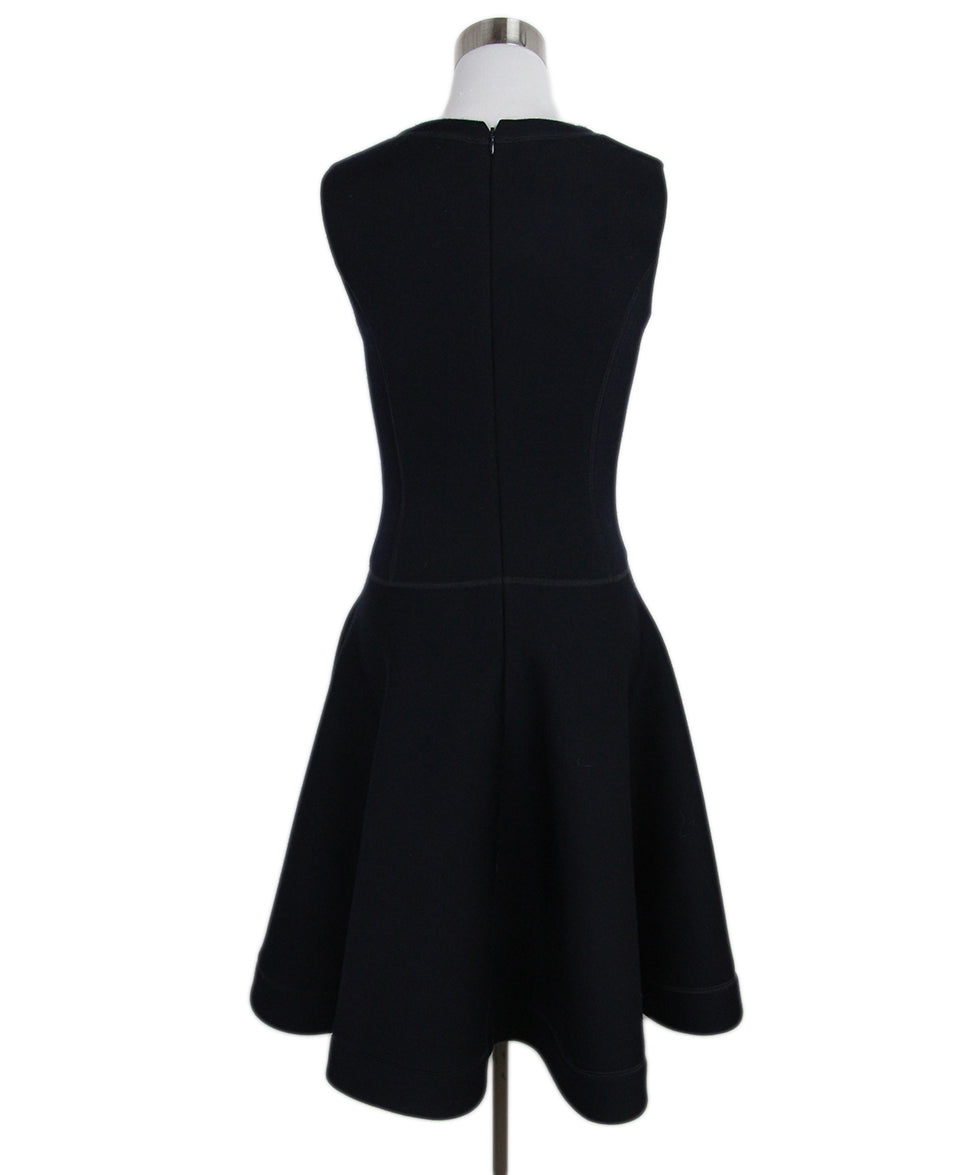 Christian Dior Navy Wool Jewel Detail Dress 3