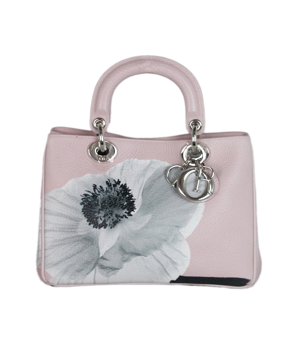 Christian Dior Pink Floral Mini Lady Dior Bag 1