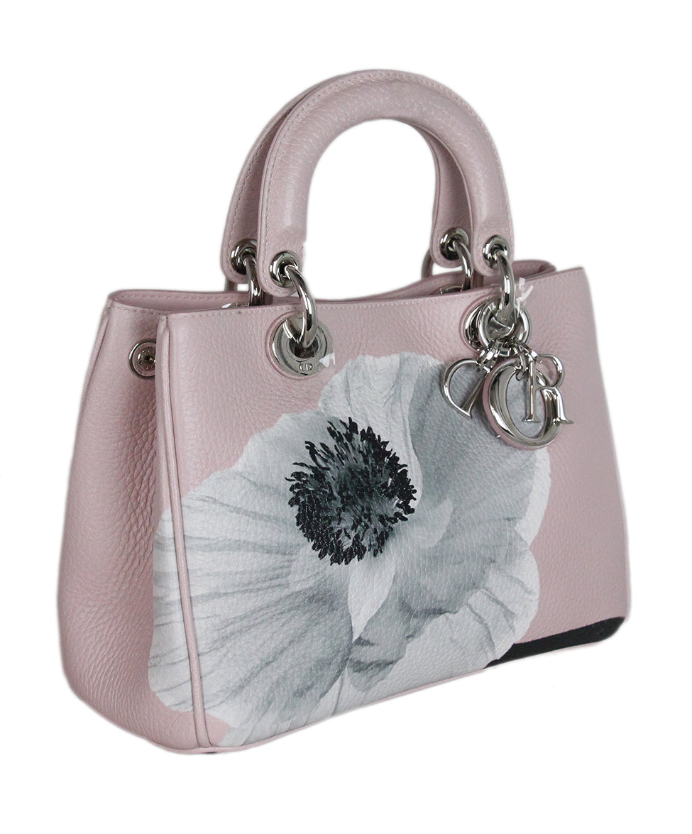 Christian Dior Pink Floral Mini Lady Dior Bag 2