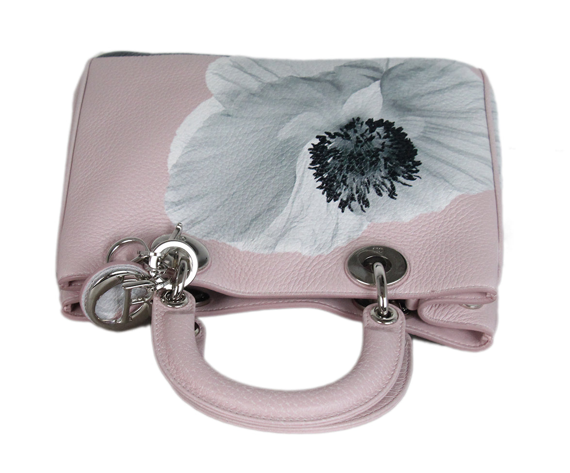 Christian Dior Pink Floral Mini Lady Dior Bag 5