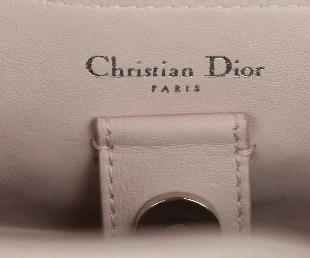 Christian Dior Pink Floral Mini Lady Dior Bag 7
