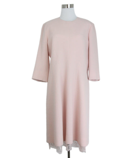 Christian Dior Pink Wool Lace Dress 1