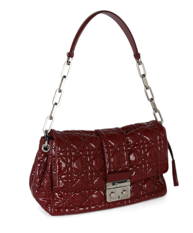 Christian Dior Red quilted patent leather shoulder bag 1