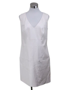 Christian Dior White Leather Dress