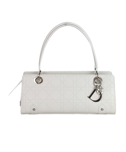 Christian Dior White Leather Shoulder Bag 1