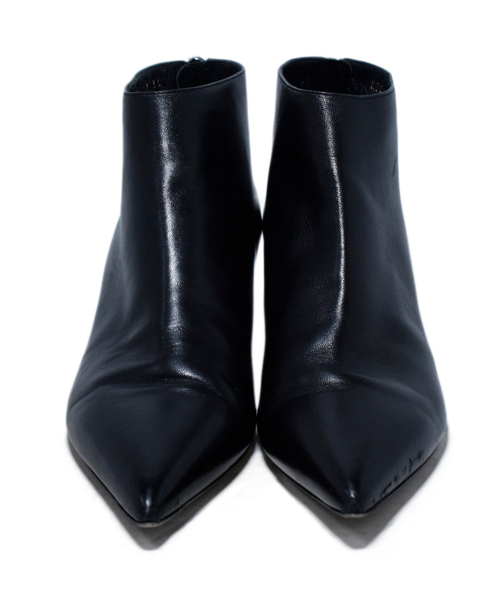 Christian Dior Black Leather Booties 4