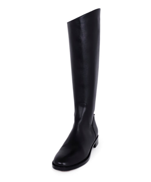 Christian Dior Black Leather Knee Boots 1