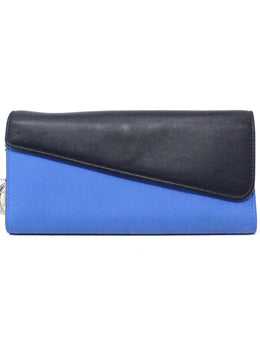 Christian Dior Blue Navy Leather Wallet 1