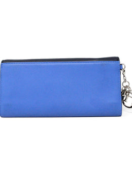 Christian Dior Blue Navy Leather Wallet 2
