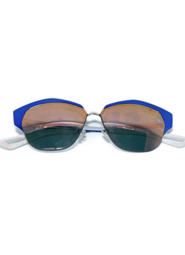 Christian Dior Blue White Metallic Rose Gold Lens Sunglasses 1