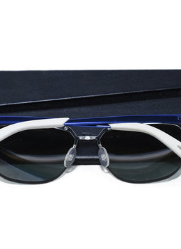 Christian Dior Blue White Metallic Rose Gold Lens Sunglasses 2
