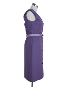 Christian Dior Lavender Wool Dress 2