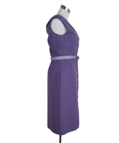 Christian Dior Lavender Wool Dress 1