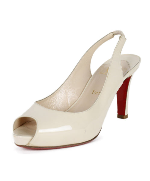 Christian Louboutin Beige Patent Leather Shoes Sz 39