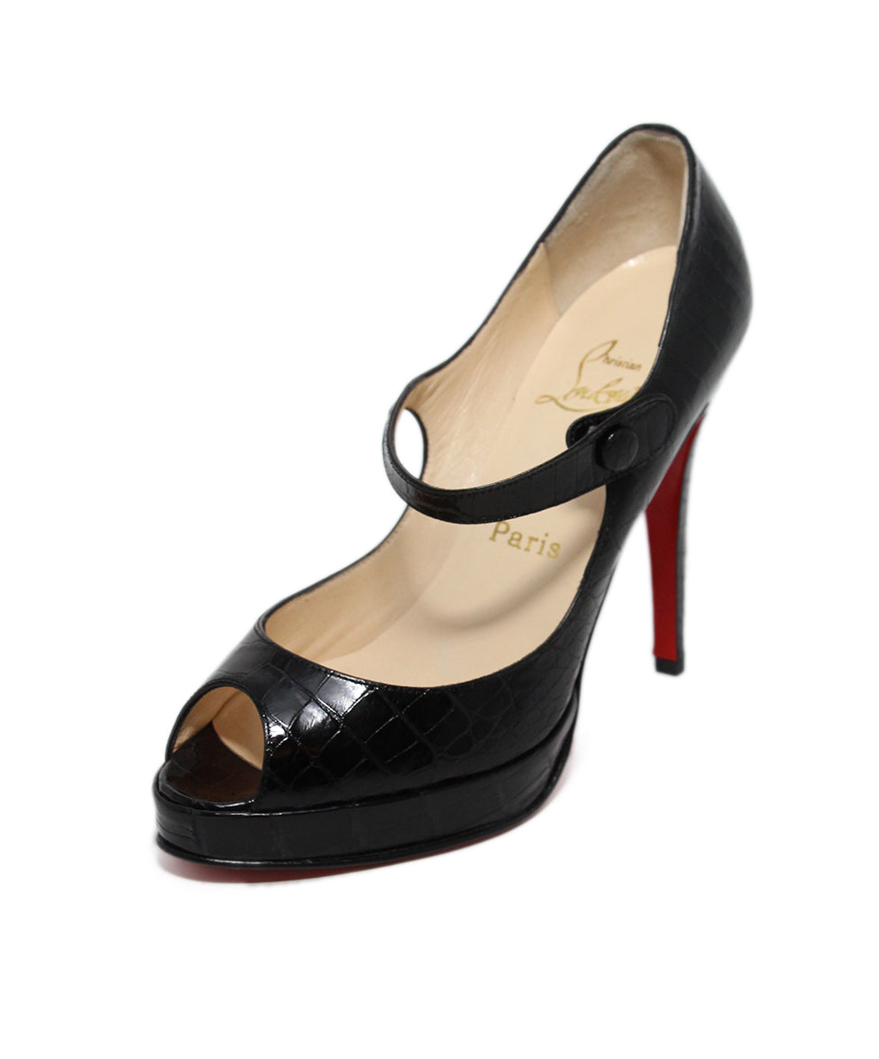 Christian Louboutin Black Alligator Heels 1