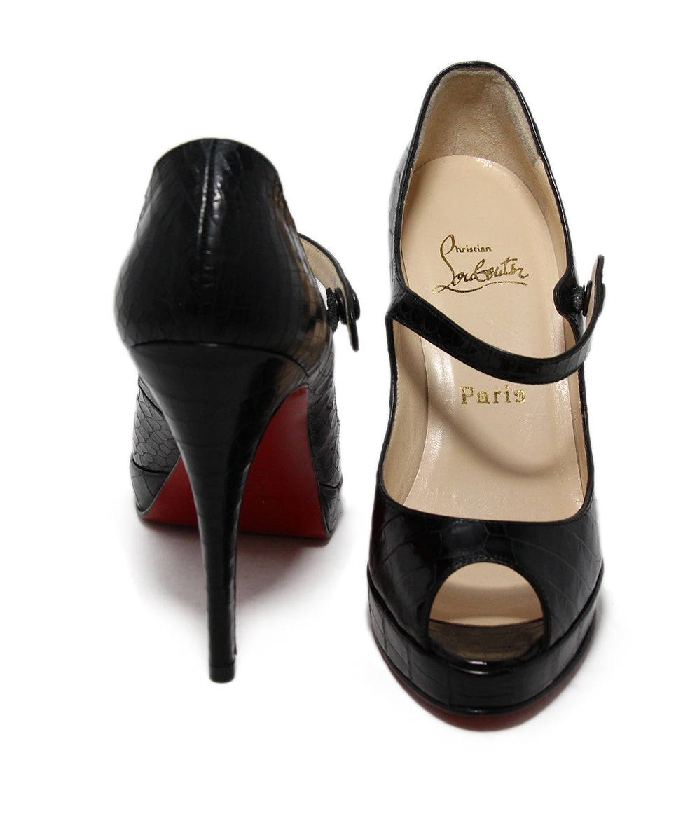 Christian Louboutin Black Alligator Heels 3