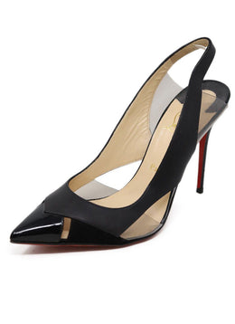 Heels Christian Louboutin Shoe Black Patent Leather Lucite Shoes