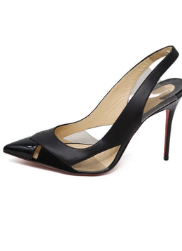 Heels Christian Louboutin Shoe Black Patent Leather Lucite Shoes 1