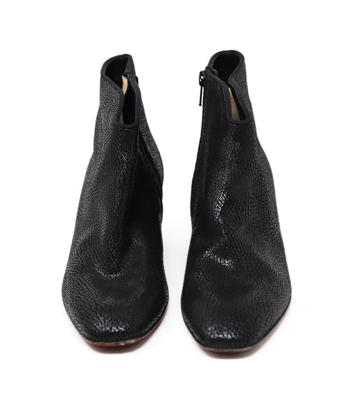 Christian Louboutin Black Leather Booties 2