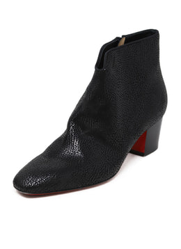 Christian Louboutin Black Leather Booties