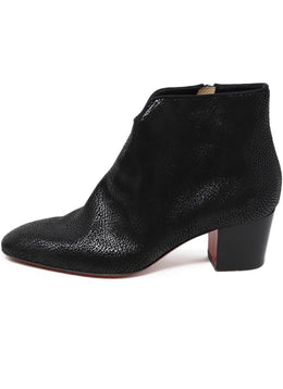 Christian Louboutin Black Leather Booties 1