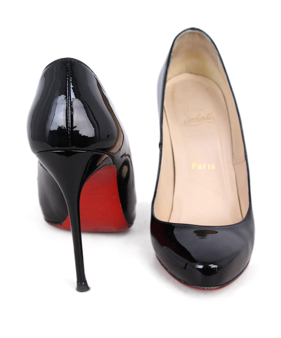 Christian Louboutin Black Leather Heels 3