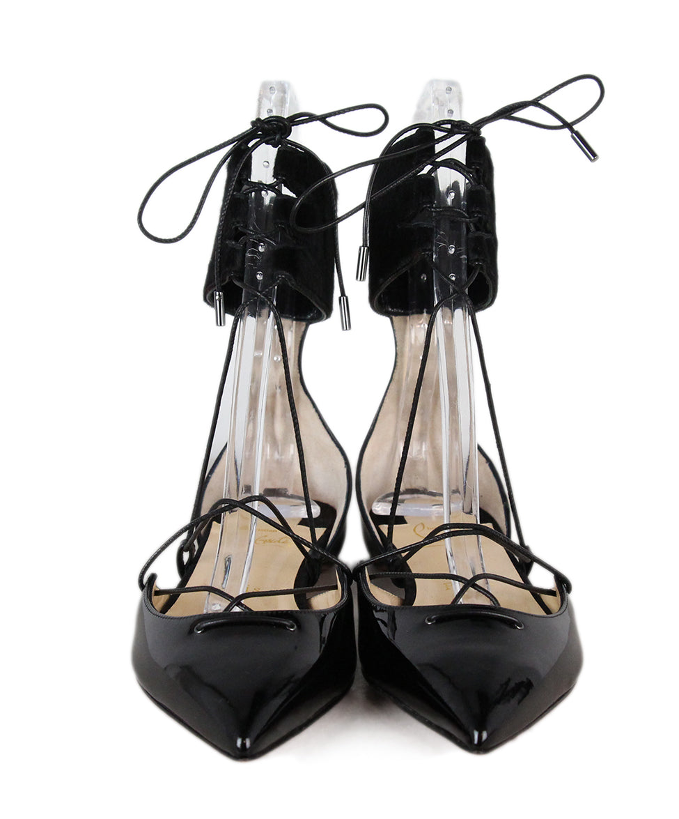 Christian Louboutin Black Leather Pony Shoes 4