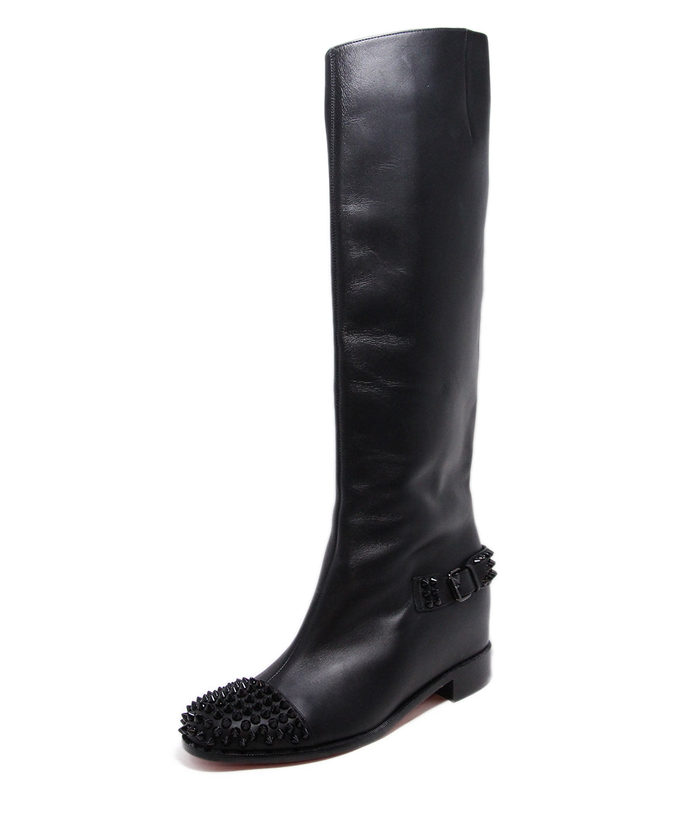 Christian Louboutin Black Leather Studs Boots 1