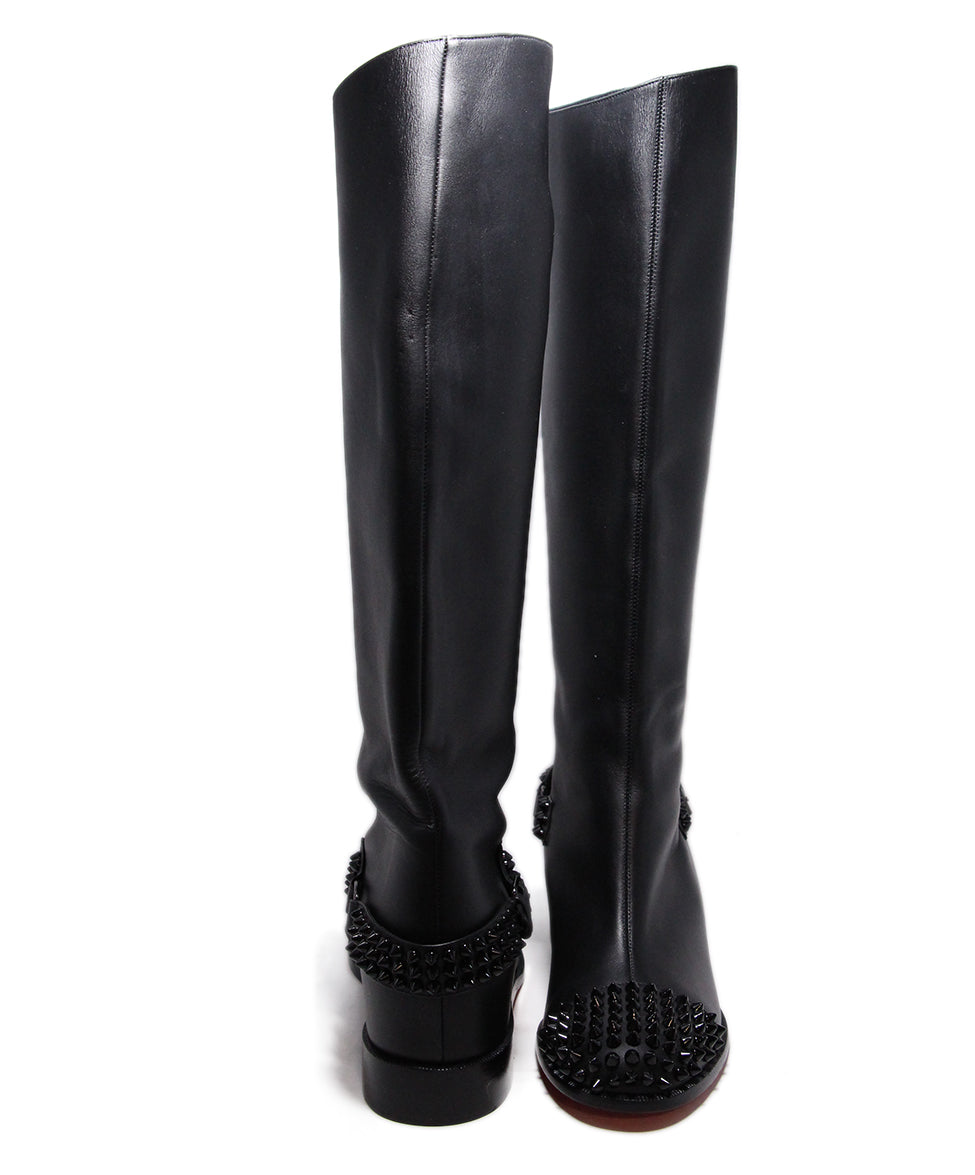 Christian Louboutin Black Leather Studs Boots 3