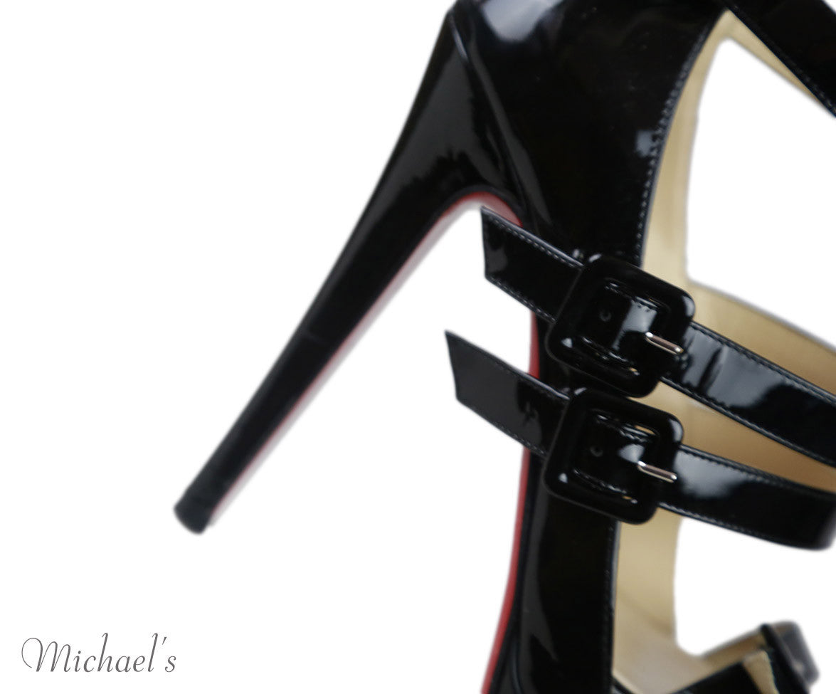 Christian Louboutin Black Patent Leather Shoes Sz 36.5
