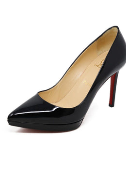Heels Shoe Christian Louboutin Black Patent Leather Shoes
