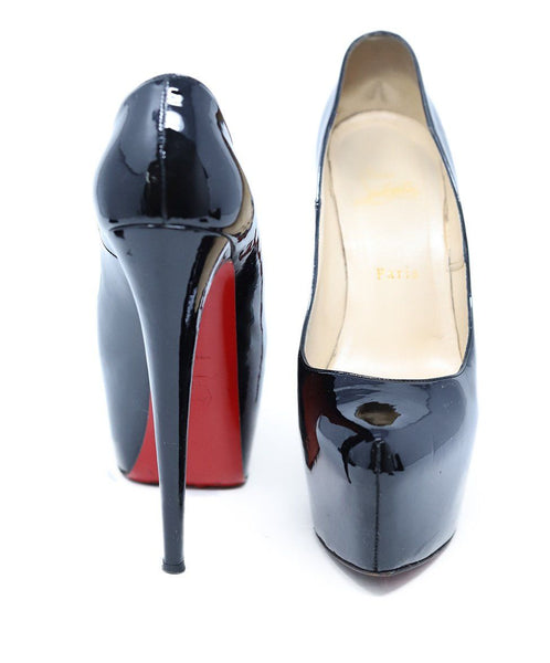 Christian Louboutin Black Patent Leather Platform Heel 3