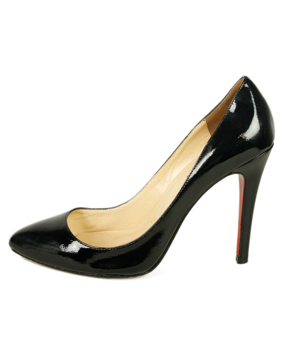 Christian Louboutin Black Patent Leather Shoes 2