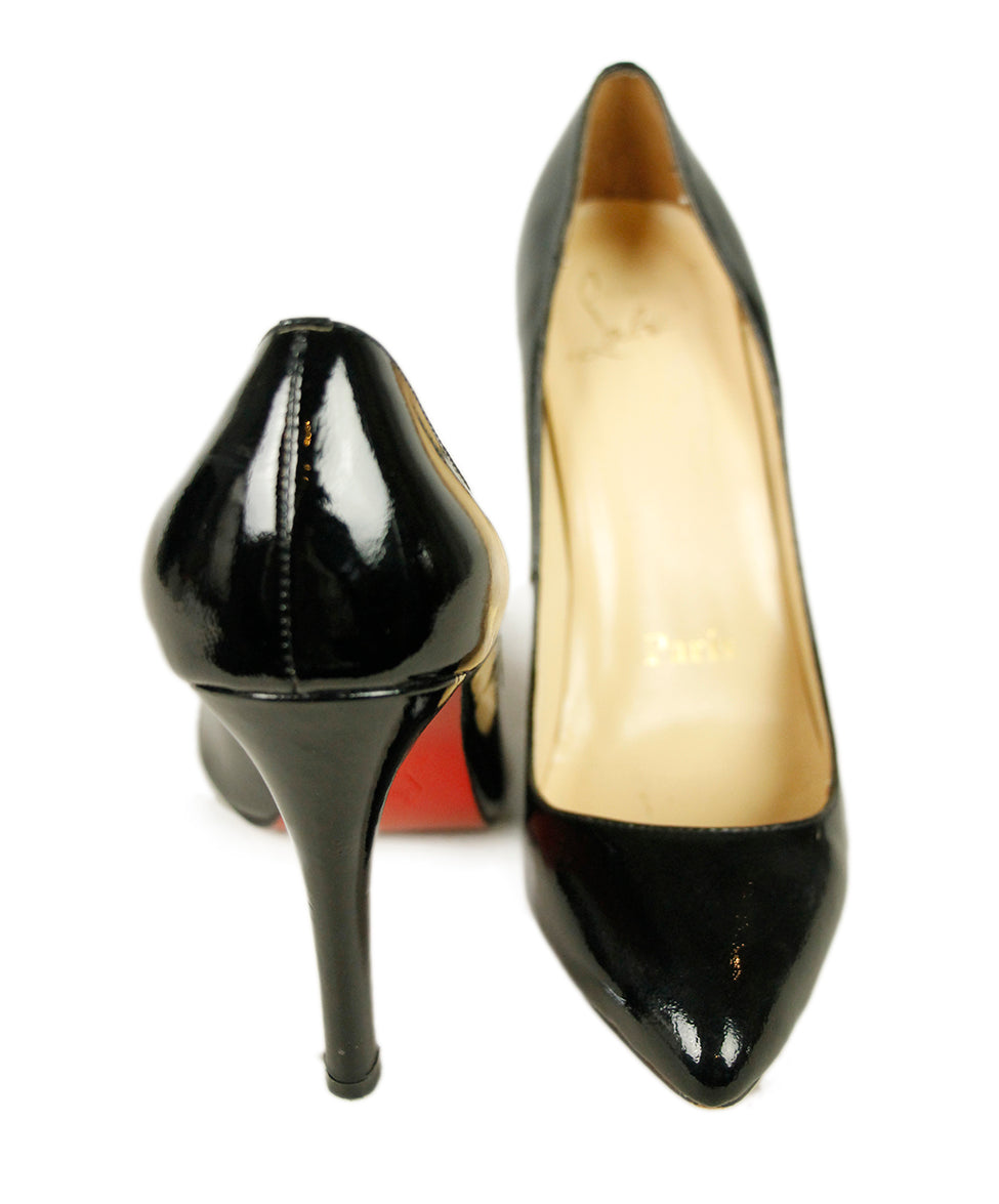 Christian Louboutin Black Patent Leather Shoes 4