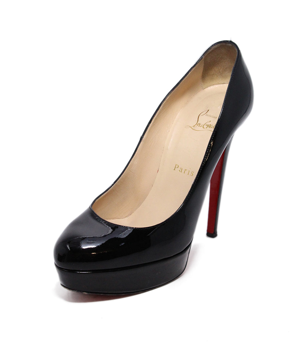 Christian Louboutin Black Platform Patent Leather  Heels 1