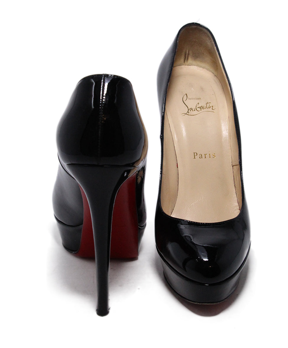 Christian Louboutin Black Platform Patent Leather  Heels 3