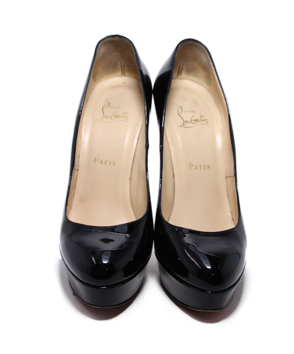 Christian Louboutin Black Platform Patent Leather  Heels 4