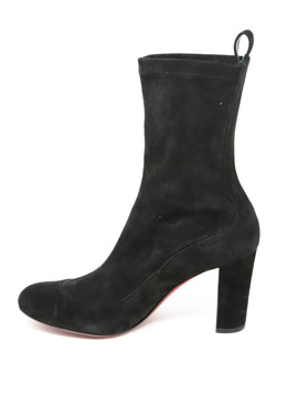 Christian Louboutin Black Suede Booties 2