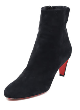 Christian Louboutin Shoe Size US 12 Black Suede W/Dust Bag Booties