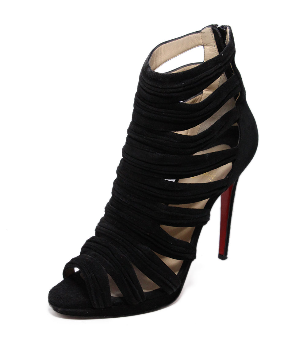Christian Louboutin Black Suede Sandals 1