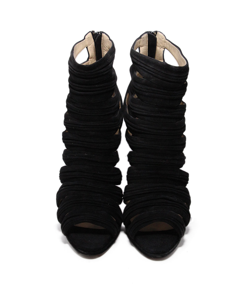 Christian Louboutin Black Suede Sandals 4