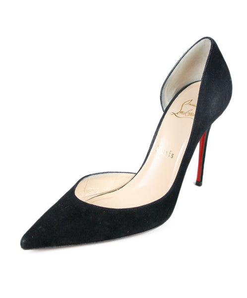 Christian Louboutin Black Suede Shoes Sz 38.5
