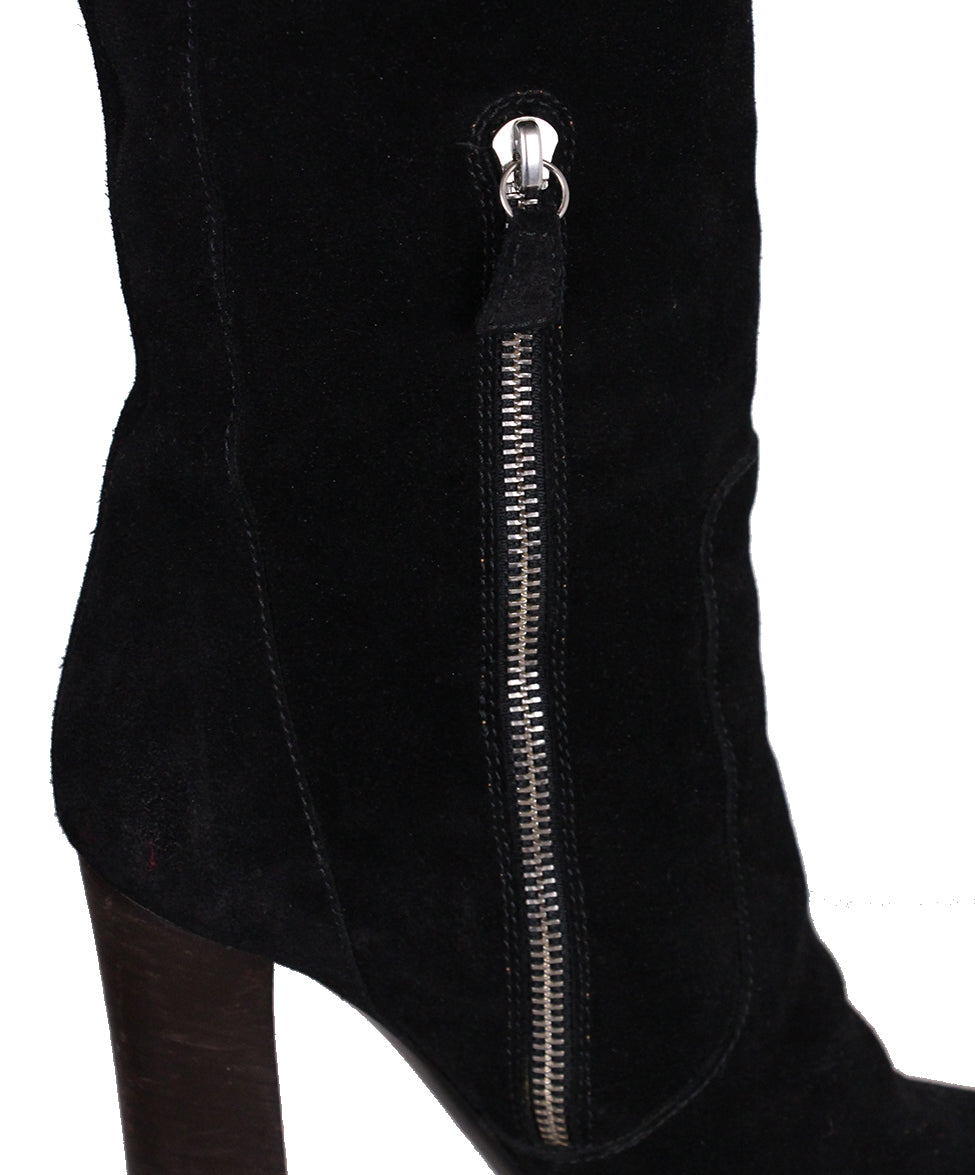 Christian Louboutin Black Suede boots 7