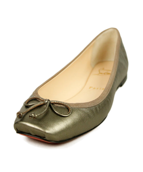 Christian Louboutin Bronze Leather Flats 1
