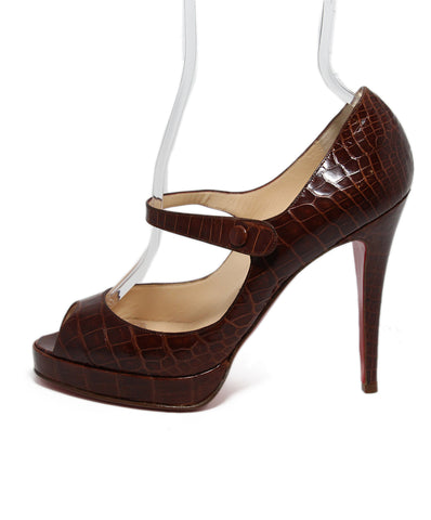 Christian Louboutin Brown Alligator Heels 1